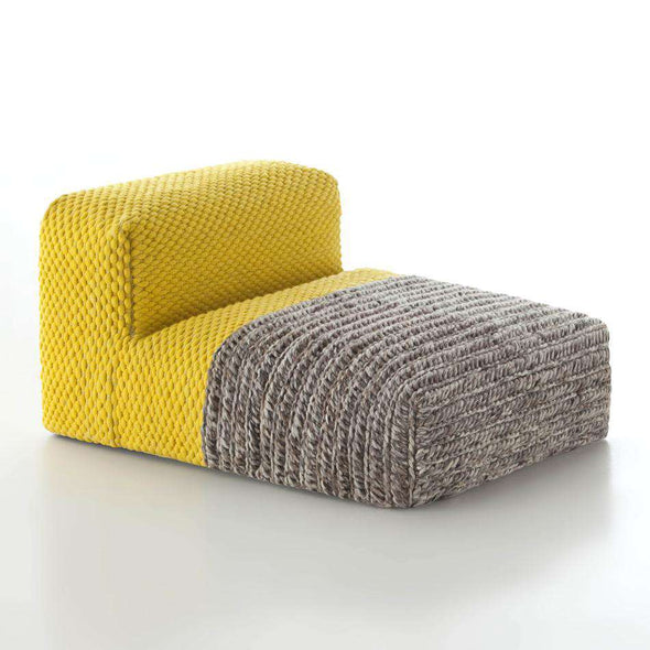 Mangas Plaid Pouf Yellow