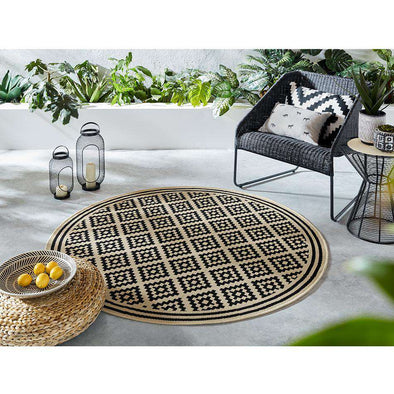 Florence Alfresco Moretti Black Beige Circle