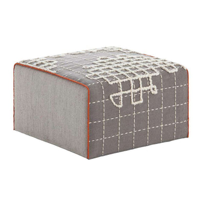Bandas Small Pouf A Grey