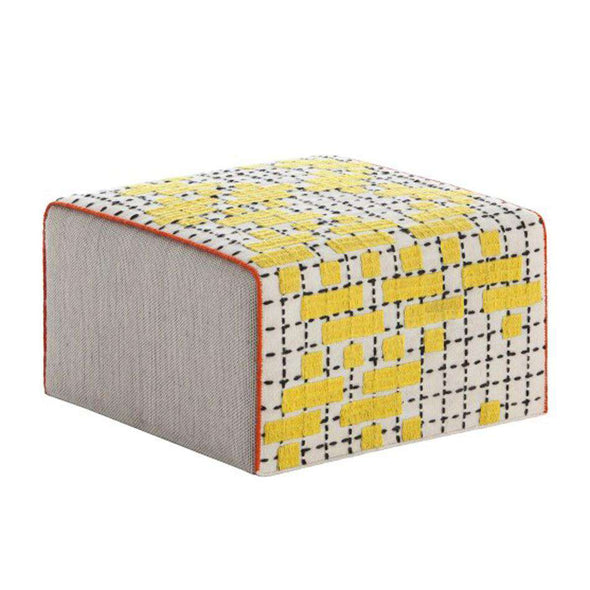 Bandas Small Pouf C Yellow
