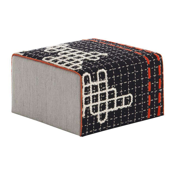 Bandas Small Pouf D Black