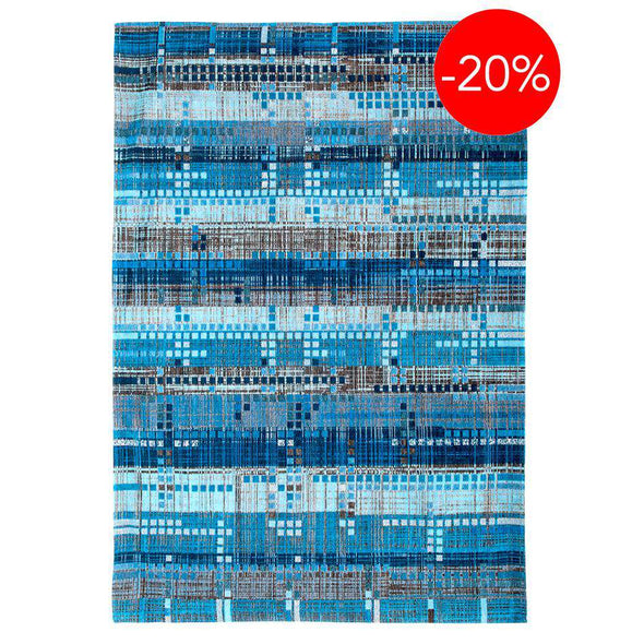 Mad Men Sky Scraper 8411 Teal Rugs