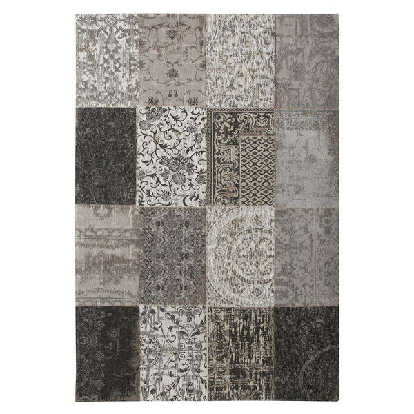 Vintage 8101 Black White Rugs