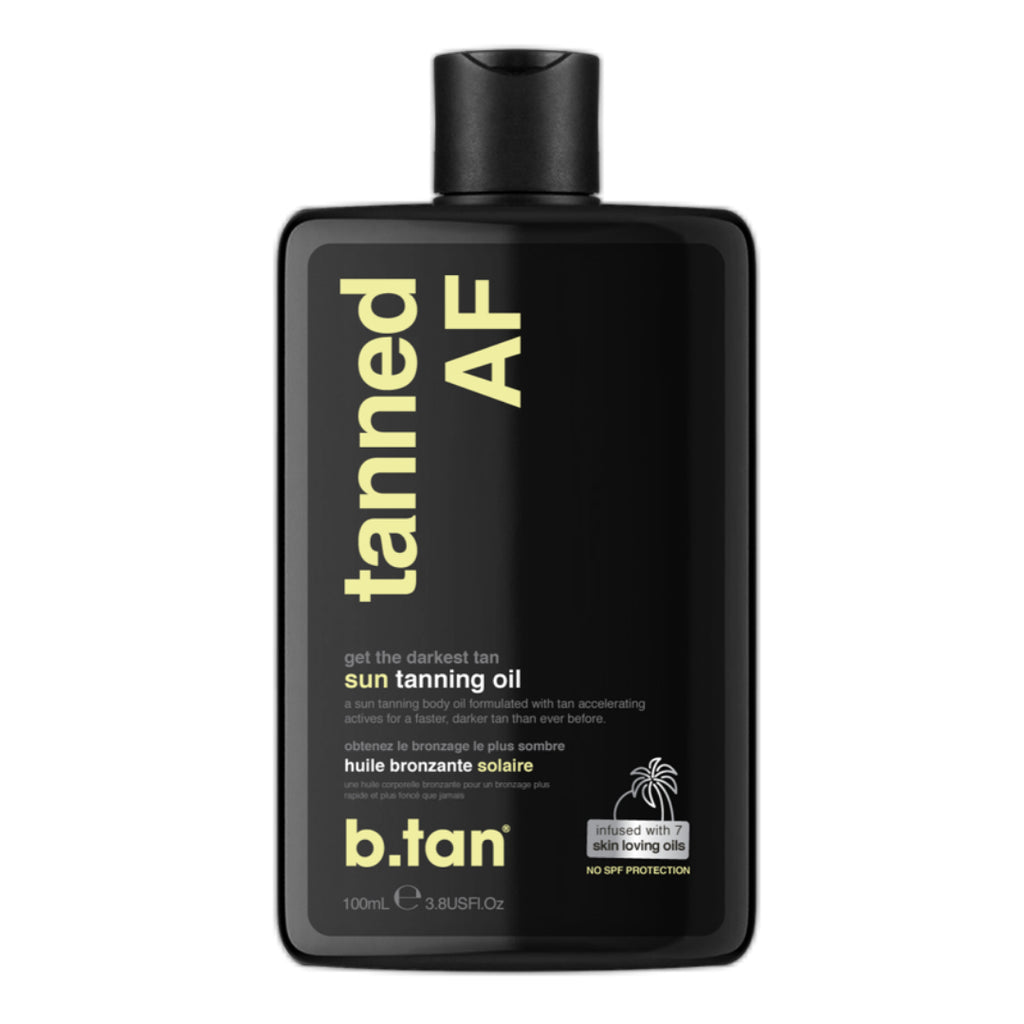 b.tan | tanned AF tanning body oil