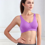 Seamless Wire Free Padded Sports Bra