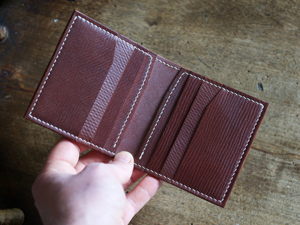 Trompette - 6 Pocket Bifold Wallet - J&FJ Bakers Bridle and Russian Kip Leathers (Dark Stain Oak)