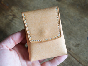 Penny Bun - 2 Pocket Pouch Wallet - Badalassi Carlos Pueblo Leather (Bone)