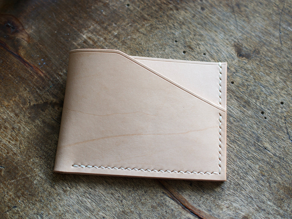 Alba - 2 Pocket Card Wallet - Conceria Walpiers Buttero Bellies (Natural)