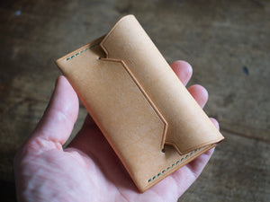 Hedgehog - 1 Pocket Pouch Wallet - Badalassi Carlos Pueblo Leather (Bone)