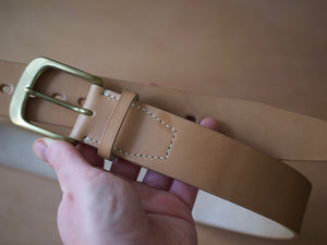 Wild Foot Belt - Stitched - J&FJ Bakers Bridle Leather (Russet / Natural)