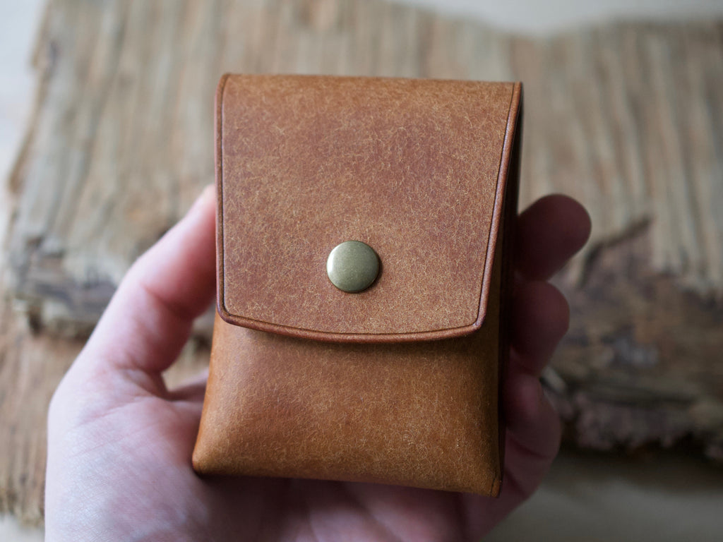 Penny Bun - 2 Pocket Pouch Wallet - Badalassi Carlos Pueblo Leather (Cognac)