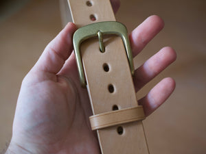 Wild Foot Belt - Classic - J&FJ Bakers Bridle Leather (Russet / Natural)