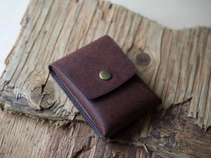 Penny Bun - 2 Pocket Pouch Wallet - Badalassi Carlos Pueblo Leather (Tobacco)
