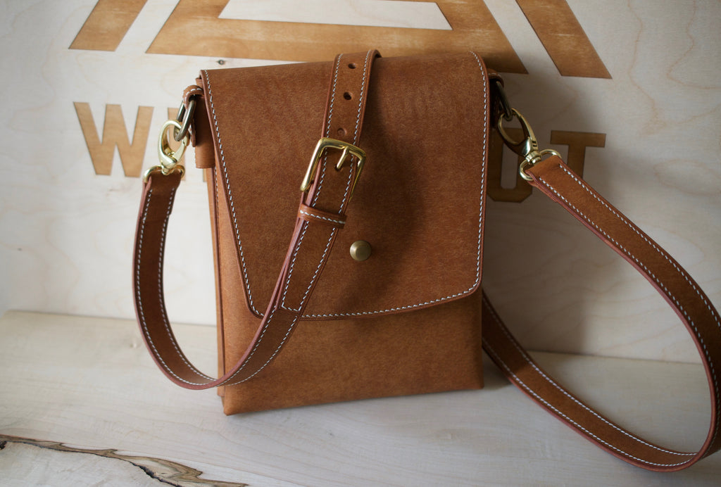 Cross Body Bag - Ready To Send - Badalassi Carlos Pueblo Leather in Cognac
