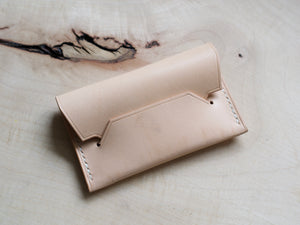 Hedgehog - 1 Pocket Pouch Wallet - Conceria Walpier Buttero Belly (Natural)