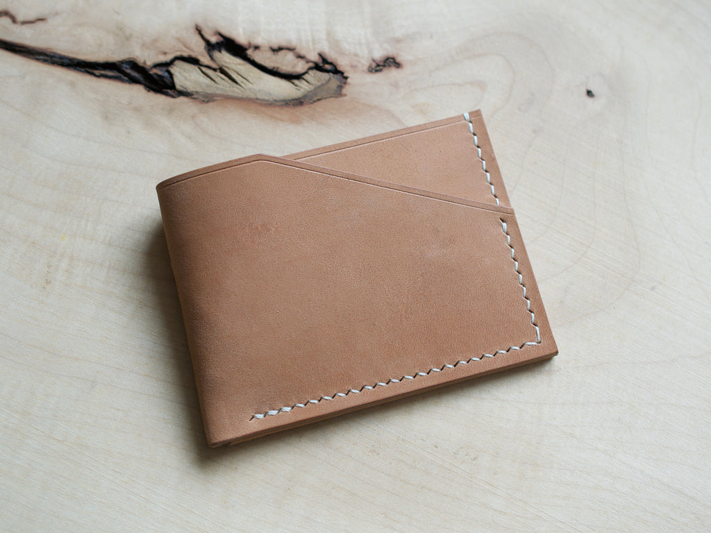 Alba - 2 Pocket Card Wallet - Horween Horse Strips (Natural)