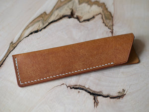Penny Bun - 2 Pocket Pouch Wallet - Marbled Chestnut Horween Shell Cordovan