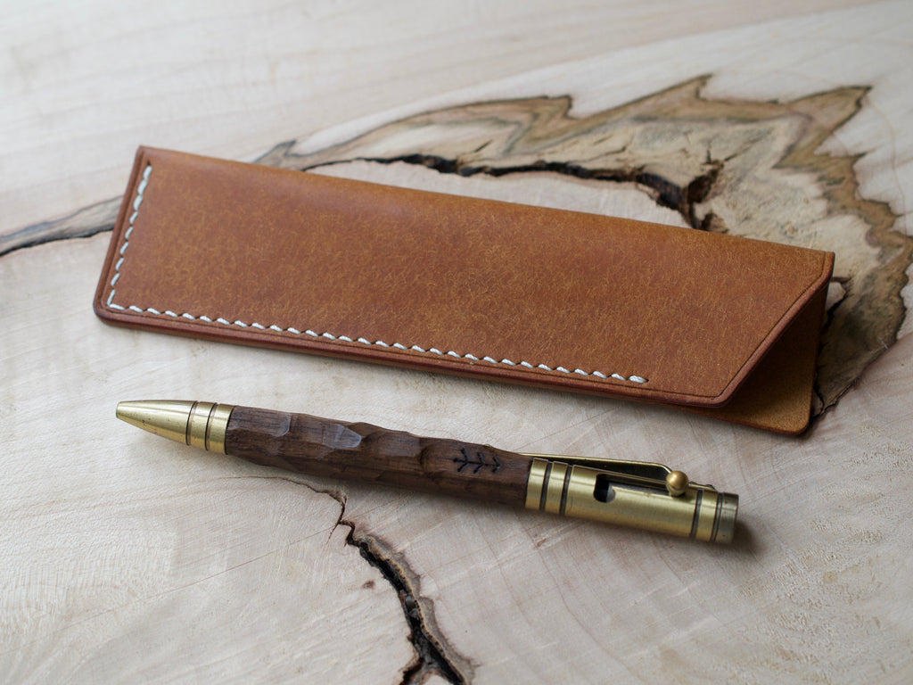 Pen Case - Badalassi Carlos Pueblo Leather - Cognac