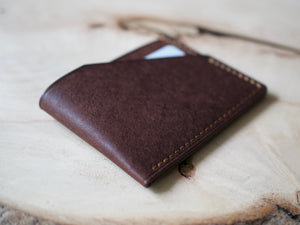 Alba - 2 Pocket Card Wallet - Badalassi Carlos Pueblo Leather (Tobacco)