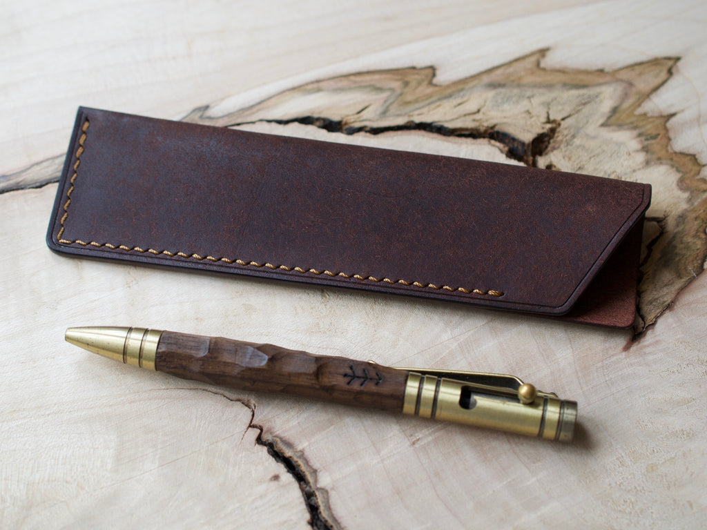 Pen Case - Badalassi Carlos Pueblo Leather - Tobacco