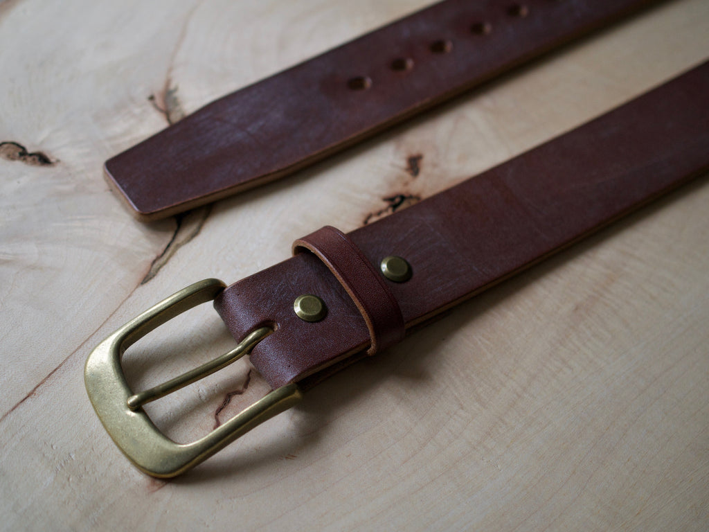 Wild Foot Belt - Classic - J&FJ Bakers Bridle Leather (Dark Stain Oak)