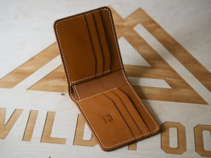 Amadou - 9 Pocket Bifold Wallet - J&FJ Bakers Bridle Leather (London Tan)