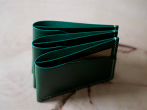 Alba - 2 Pocket Card Wallet - Conceria Walpiers Buttero Leather (Green)