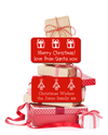 Christmas gifts with red Christmas gift stickers