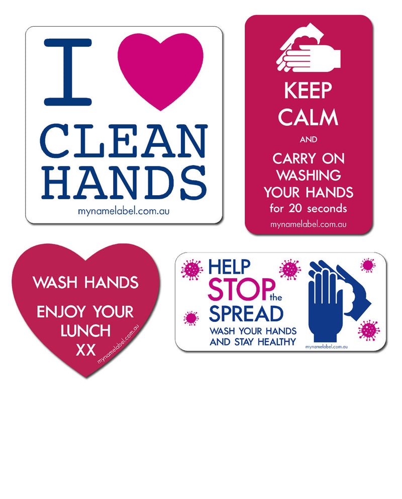 Hygiene Stickers to wash hands and stop the spread of Covid-19