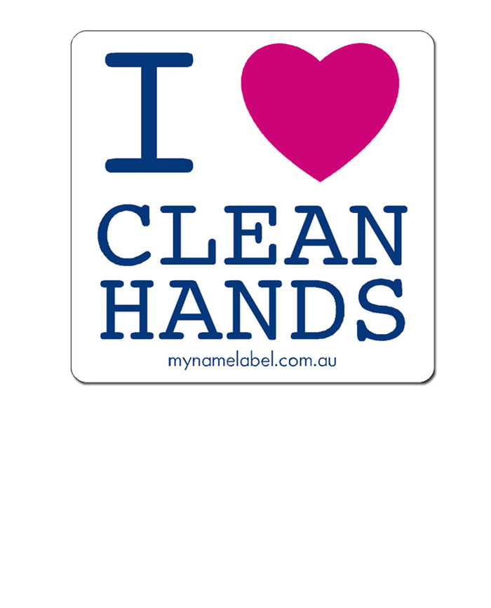 I Love Clean Hands Sticker
