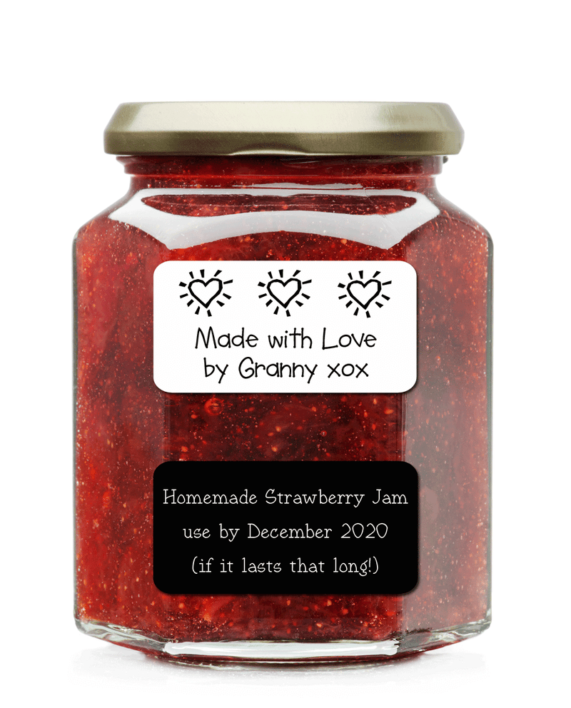 Custom stickers, labels for homemade jam, labels for preserves