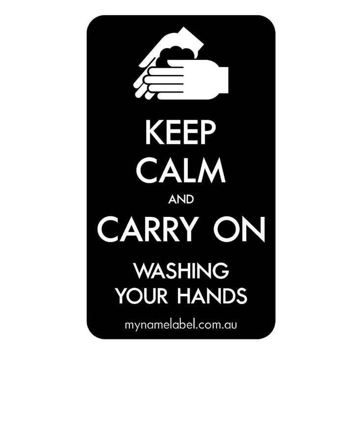 Keep Calm and Carry On - Black Sticker