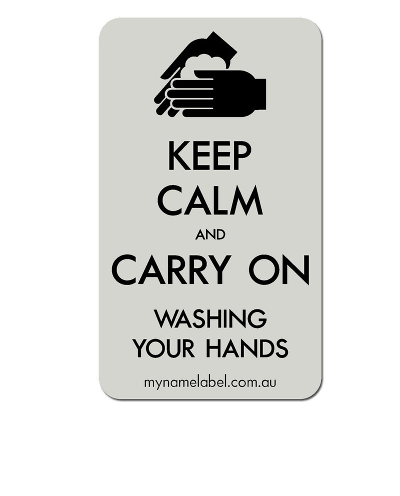Keep Calm and Carry On - Clear Sticker