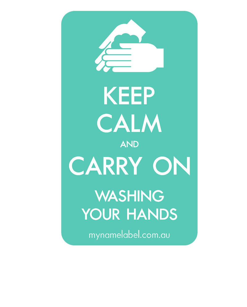 Keep Calm and Carry On - Mint Sticker