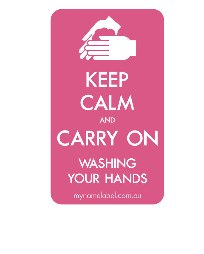 Keep Calm and Carry On - Pink Sticker