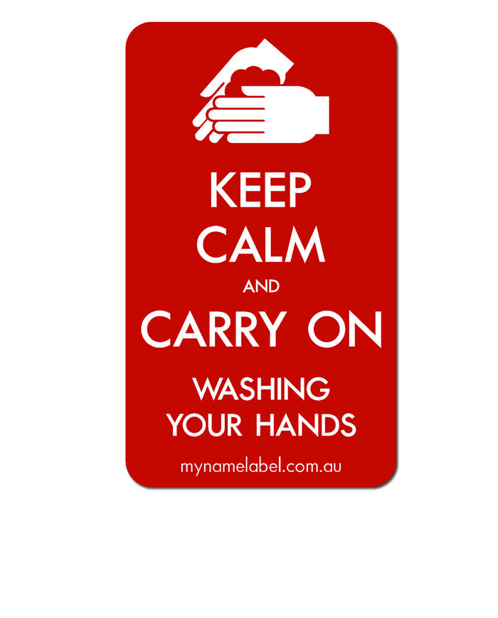 Keep Calm and Carry On - Red Sticker