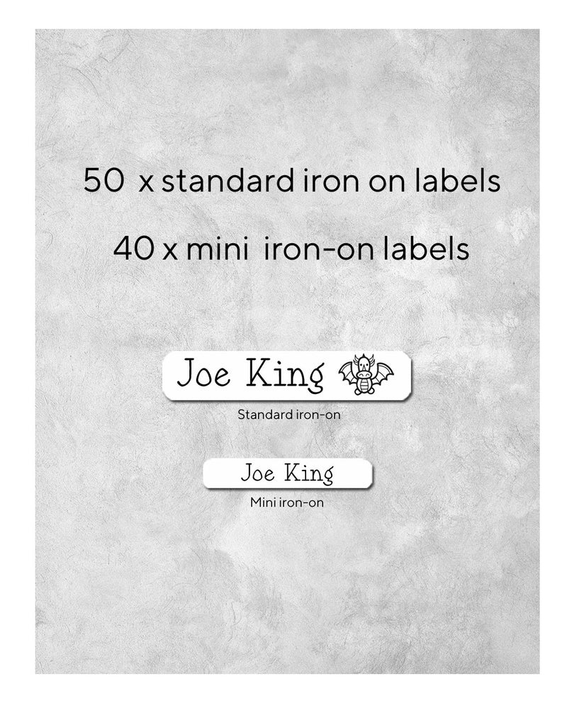 Iron on labels for clothing