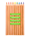 Pencil labels - wooden coloured pencils with mini name labels