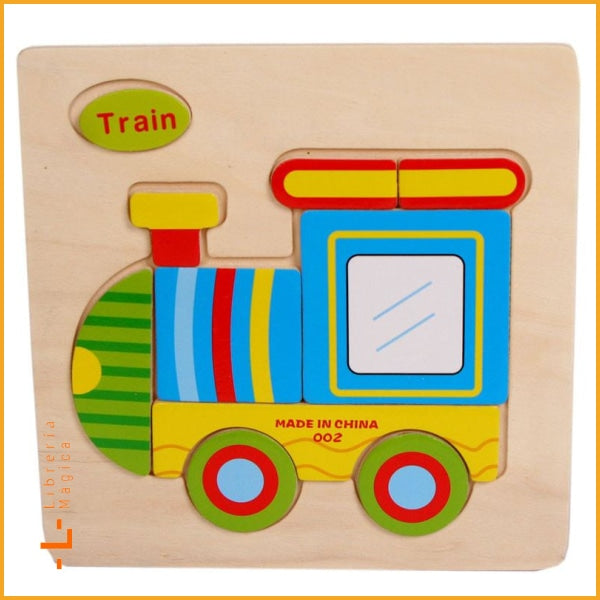 Train Wooden Puzzles for children kids toy Gift Train Puzzle