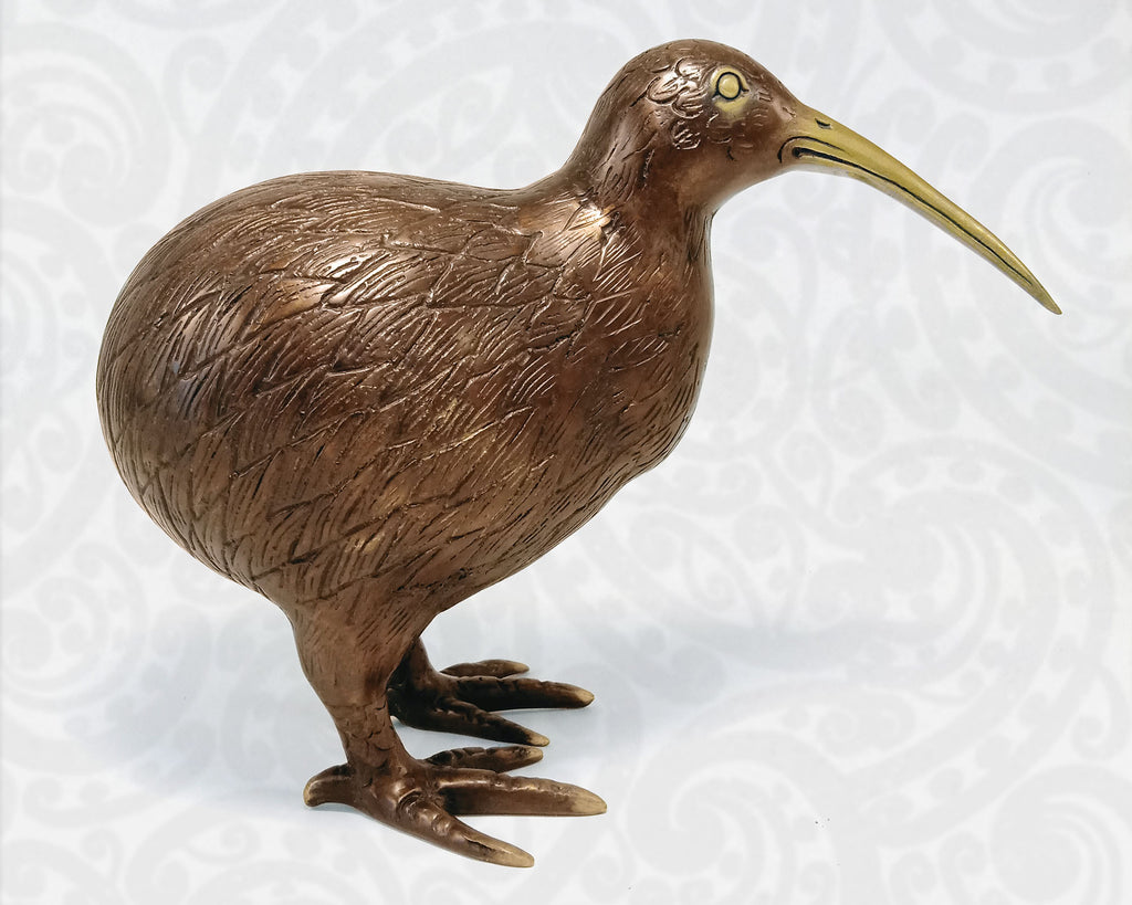 Large Brass Kiwi Bird | Large