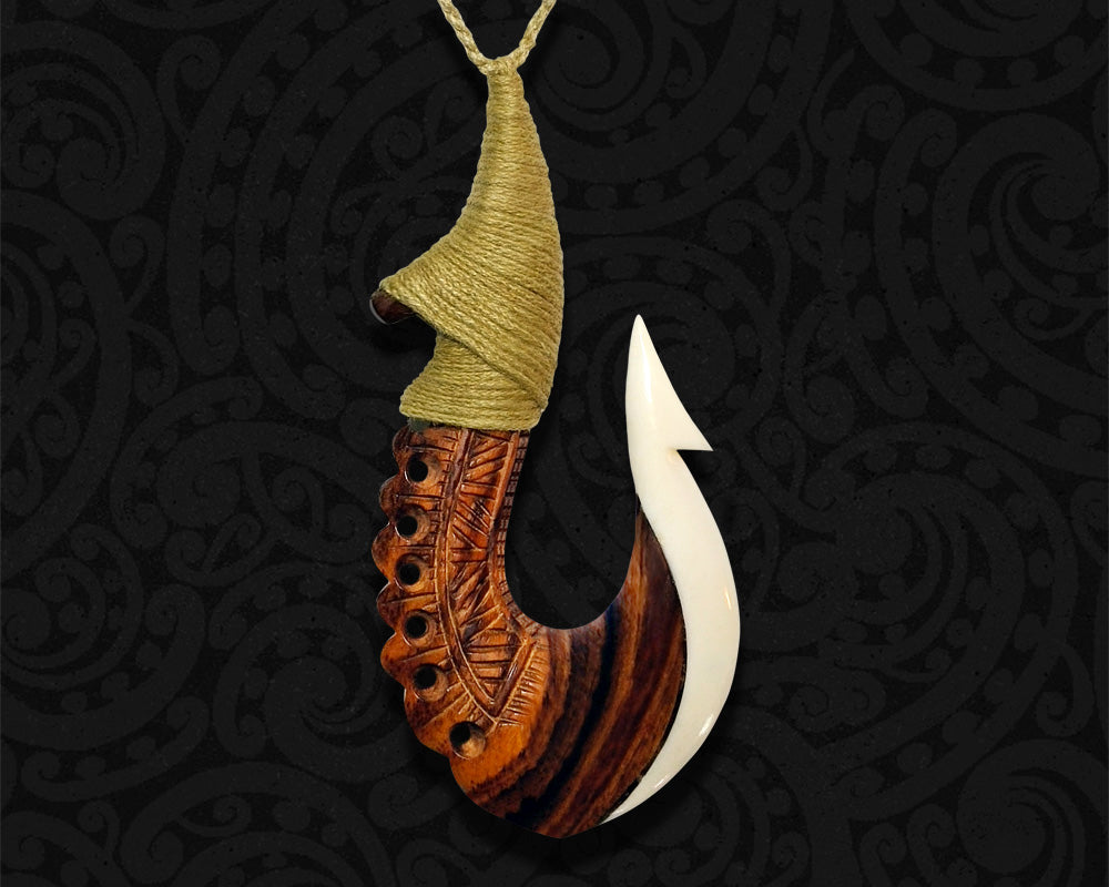new zealand maori necklace large fish hook