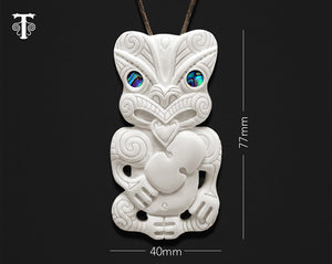new zealand maori necklace bone tiki