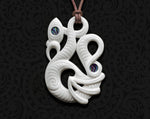 maori necklace bone carving manaia pendant