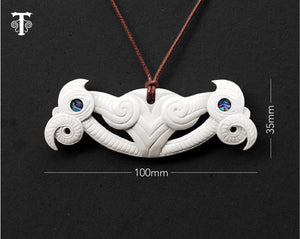 new zealand maori necklace bone pekapeka