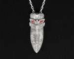 maori necklace silver spear head pendant taiaha