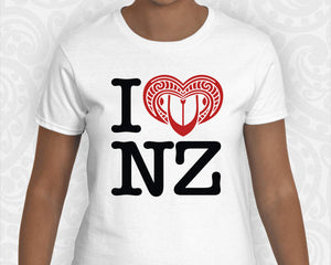 new zealand maori womens t shirt i love nz