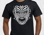 new zealand maori mens t shirt war moko tattoo