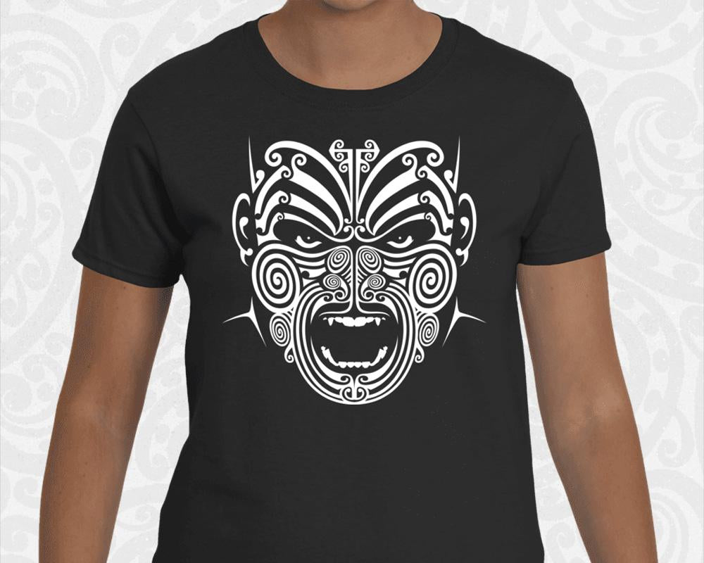 new zealand maori womens t shirt war moko tattoo