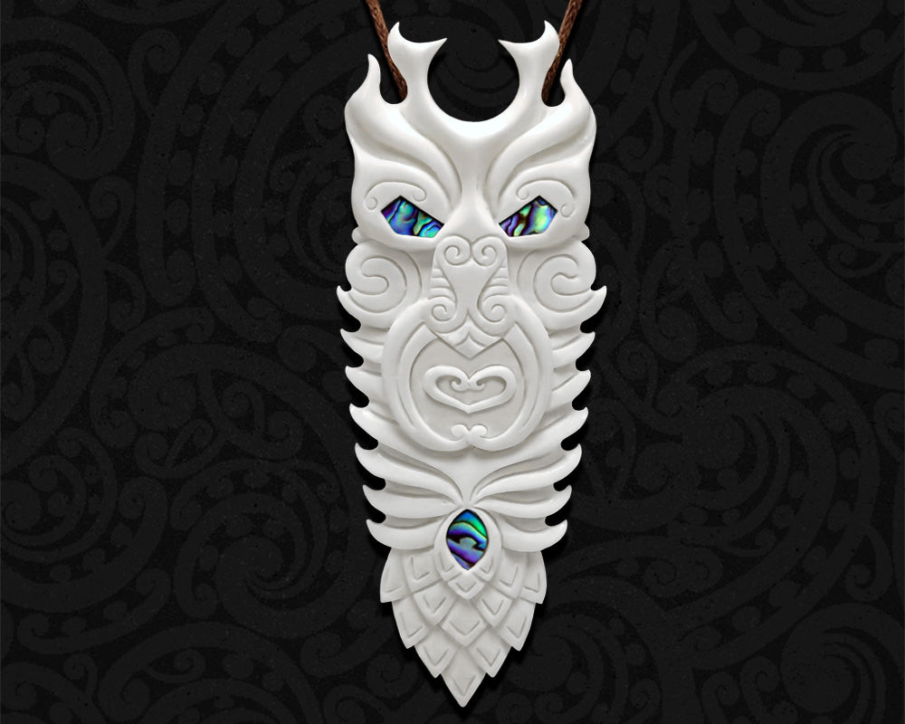 new zealand maori necklace bone god tane