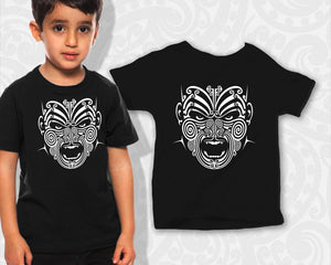 new zealand maori kids t shirt war moko tattoo